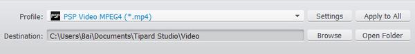 Konwertuj wideo na PSP