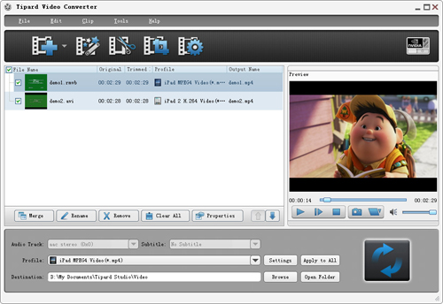 Tipard DVD Ripper Pack platinum for all users Screenshot