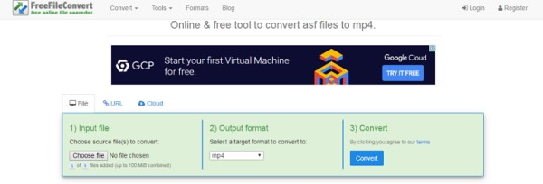 Convertir ASF a MP4 Freefileconvert