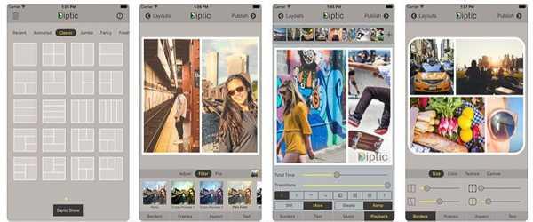 Diptic foto koláž aplikace
