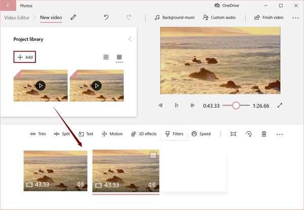 أضف ملفات WMV إلى محرر الفيديو