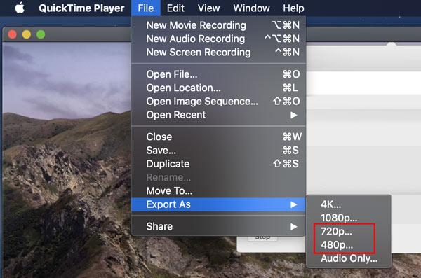 Quicktime Compress MOV File