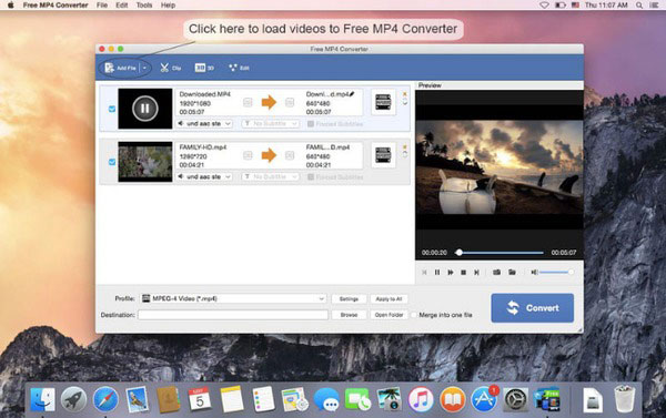 Convertitore MP4 gratuito