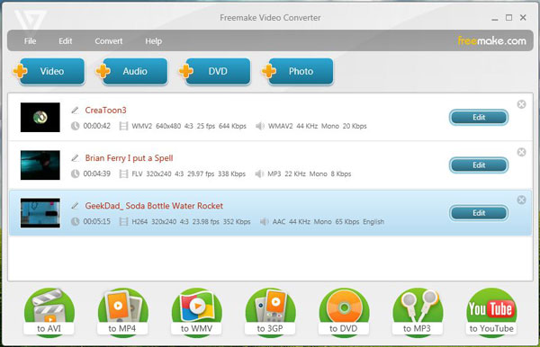 Freemake Video Converter voor Mac