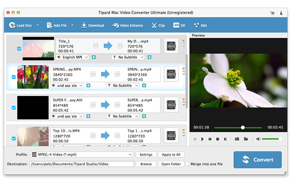 Tipard Mac Video Converter Ultimate
