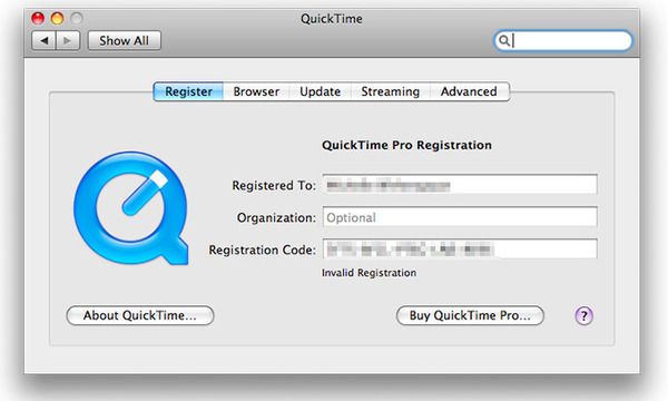 MOV till MP4 med QuickTime 7 Pro