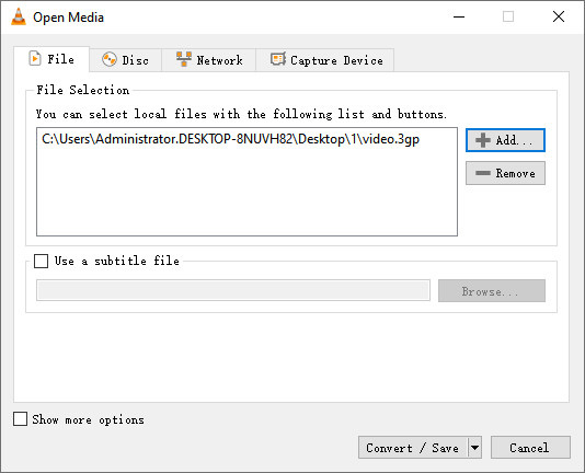 Προσθήκη αρχείου 3GP