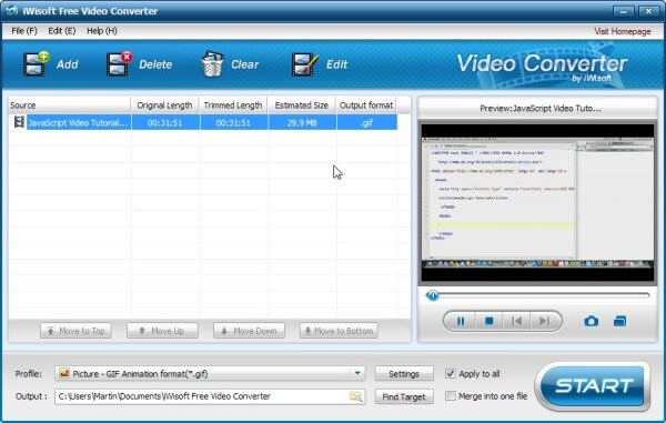 iWisoft Free Video Converter