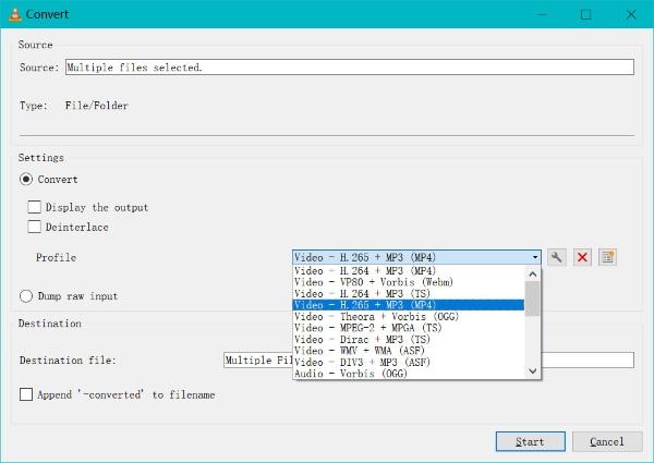 Convertir WMA en MP4 VLC
