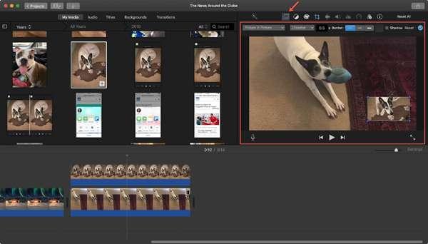 تحرير الصورة في صورة الفيديو ماك