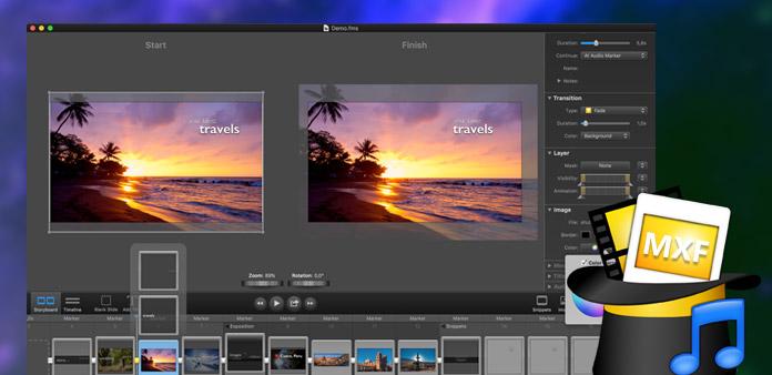 Modifier les fichiers MXF de Canon XF100 dans Foto Magico
