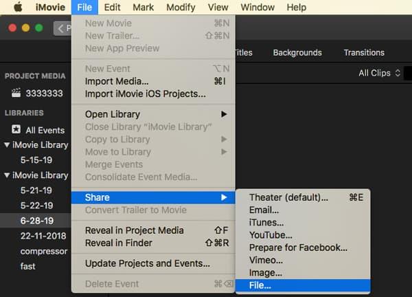 Partager un fichier iMovie