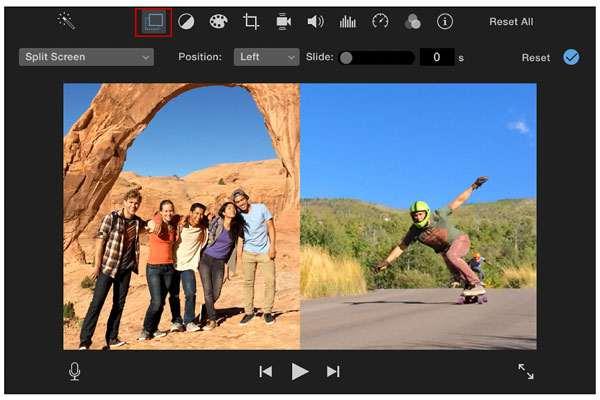 تقسيم الشاشة imovie mac
