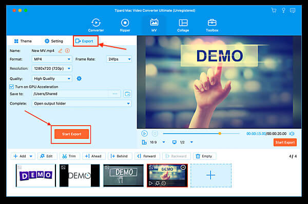 Exportovat video
