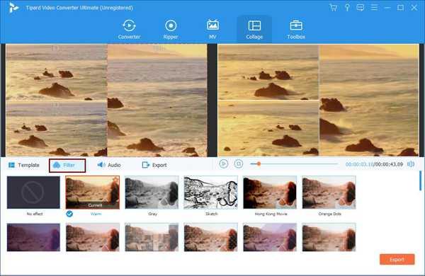 Přidejte filtry do videí na rozdělené obrazovce