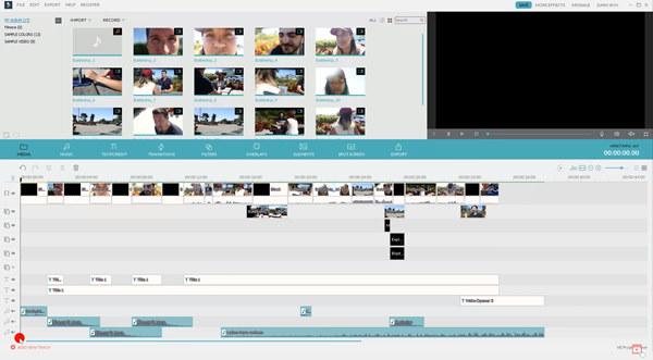 Uživatelské rozhraní Filmora