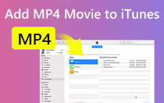 Lisää MP4 Movie iTunesiin