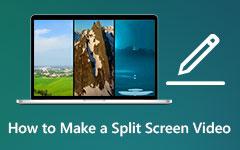 كيفية عمل فيديو منقسمة الشاشة