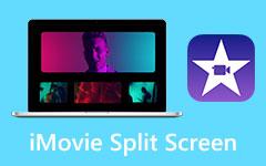 Rozdělená obrazovka aplikace iMovie