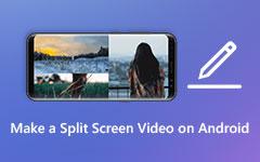 قم بعمل مقاطع فيديو منقسمة الشاشة