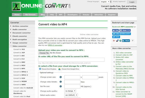conversione online