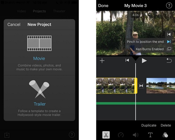 iMovie för iOS