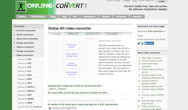 online konvertering