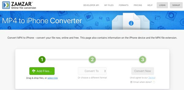Convertir mp4 en iPhone en ligne