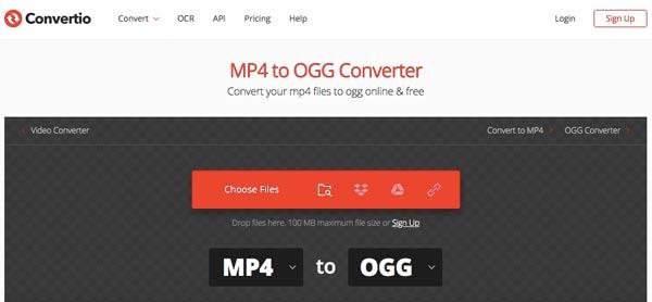 Konvertera MP4 till OGG Convertio