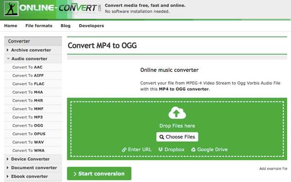 MP4 OGG Convert dönüştürün
