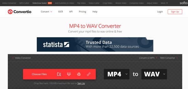Convertio MP4 إلى WAV