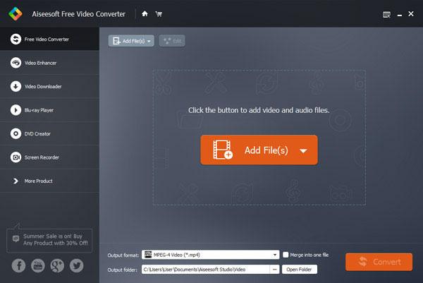 Aiseesoft Bedava Video Dönüştürücü