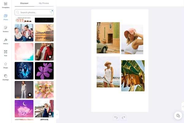 Picsart واجهة صانع صور مجمعة مجانية
