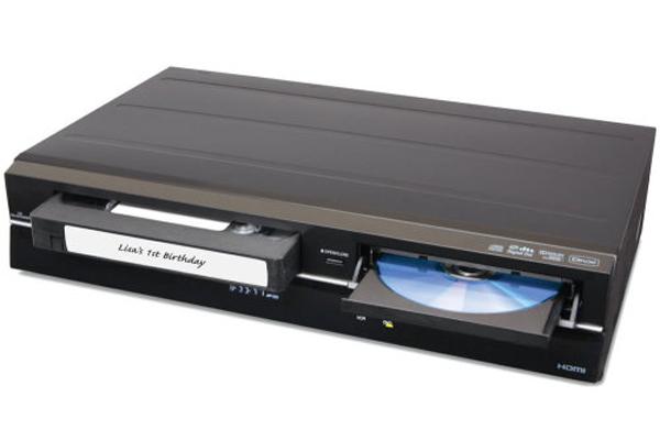 VHS til DVD-spiller kombinasjonsboksen