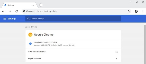 Aktualizace prohlížeče Chrome
