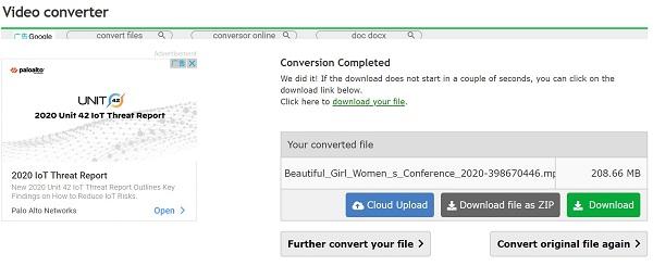 avviare la conversione