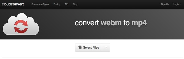 WebM on MP4 ja Cloudconvert