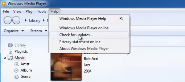 Aktualizace Windows Media Player