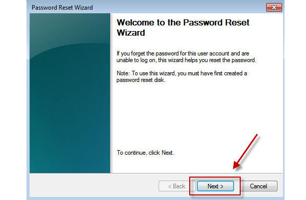 Bypass Windows Password med Reset Disk