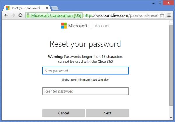 Zresetuj hasło do konta Microsoft