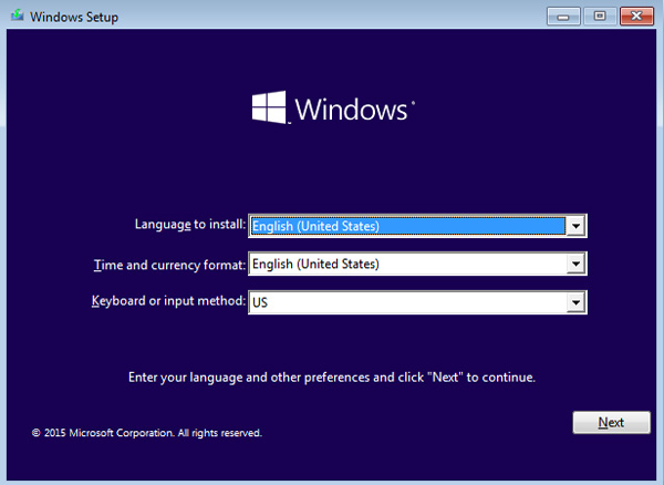 إعداد Windows