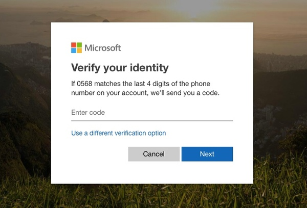تحقق من هويتك