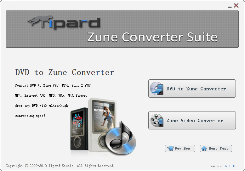 Click to view Tipard Zune Converter Suite screenshots